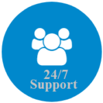 give all our clients 24/7 support when ever they have problems